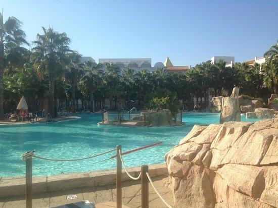 Vera Playa Club Hotel : Poolbereich Innenanlage Hotel