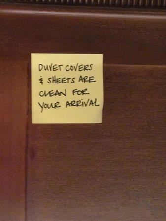 Hampton Inn & Suites Columbus Polaris : No question about cleanliness of duvet cover