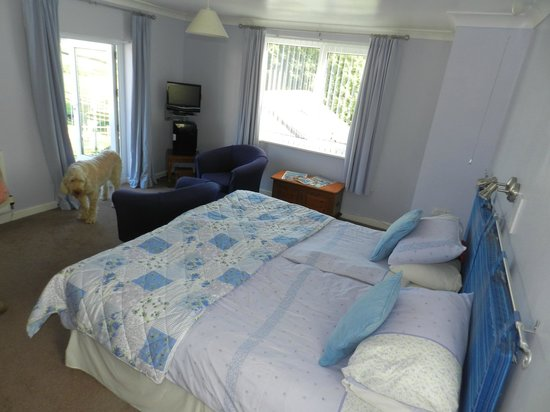 Moreton House: Large bedroom, we had four large dogs sleep on the floor and there was still masses of room!