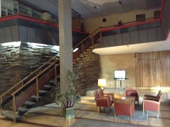 Hotel new naderi lobby look at the disued bar upstairs looks like set from