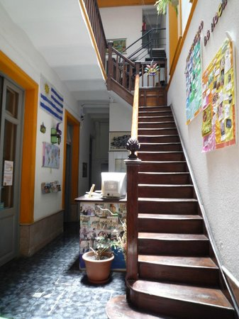 Planet Hostel: reception area