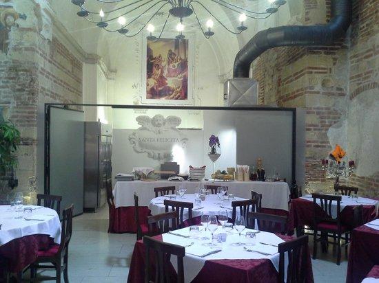 Santa Felicita: intérieur du restaurant