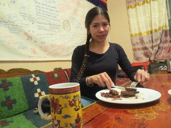 Tibetan Family Kitchen: Yak steak!