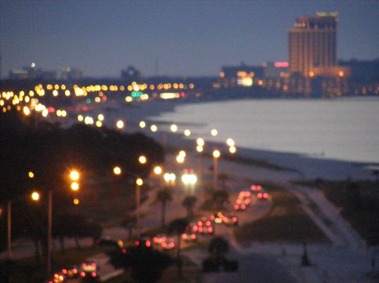 South Beach Biloxi Hotel & Suites: This is a zoom view of the Beau Rivage Casino from our room.
