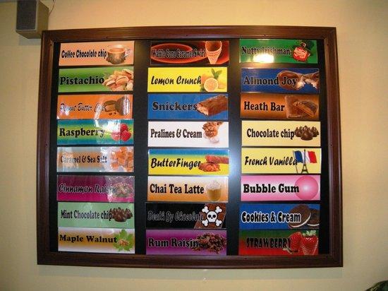 Inside Scoop Creamery: Yummy flavors