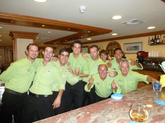 Grupotel Playa Camp de Mar: Some of the friendly bar team