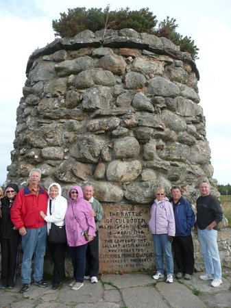 WOW Scotland: Our group at Culloden Battlefield