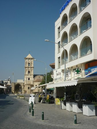 Livadhiotis City Hotel : hotel and St Lazarus Church