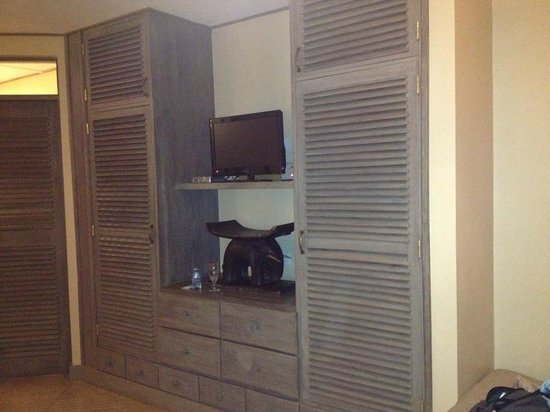 Onsea House Country Inn & Guest Cottage: Great storage and even a TV
