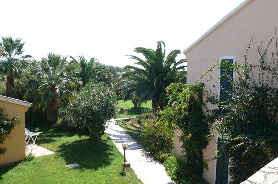 Tirreno Resort: Garten von den Studios aus gesehen