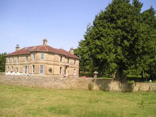 Cholwell Hall: view from a field