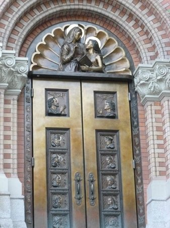 Cathedral of Our Lady of Lourdes: another of the cast bronze doors
