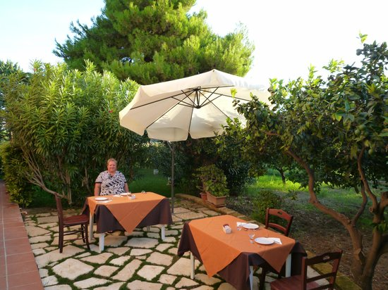 B&B VillaSeta : the breakfast terrace