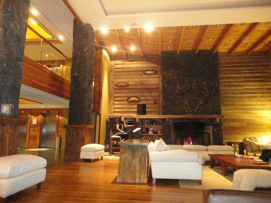 Hotel Cumbres Puerto Varas: Sala da lareira