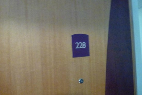 Premier Inn London Hayes, Heathrow Hotel : room door