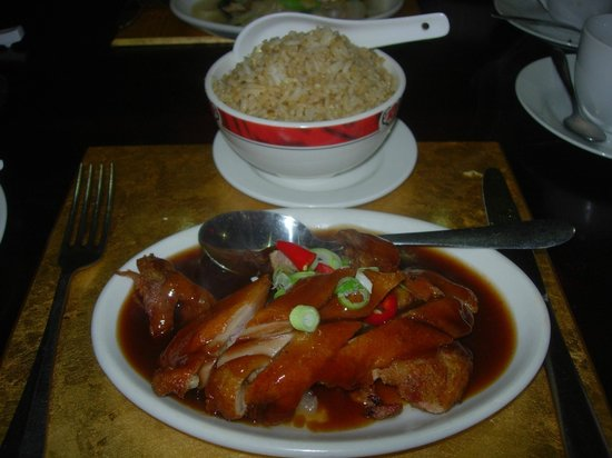 Charlie Chan S Duck In Fruity Peking Sauce Egg Fried Rice