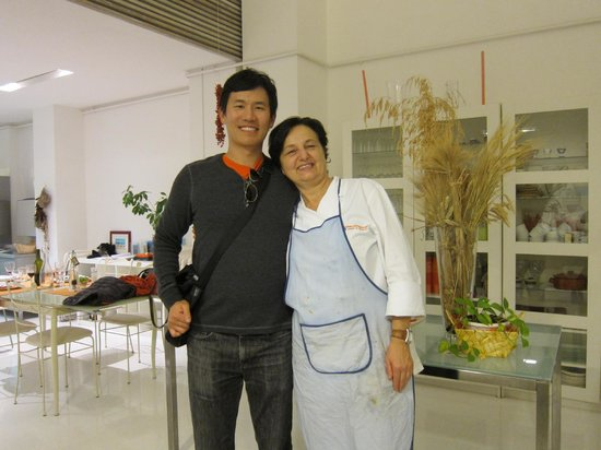 Giglio Cooking Day Course : me with Marcella