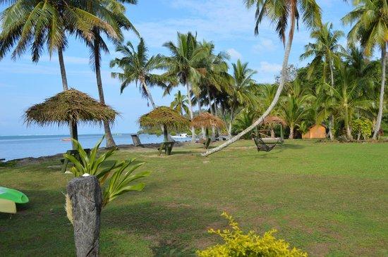 Waidroka Bay Resort : View from pool area.
