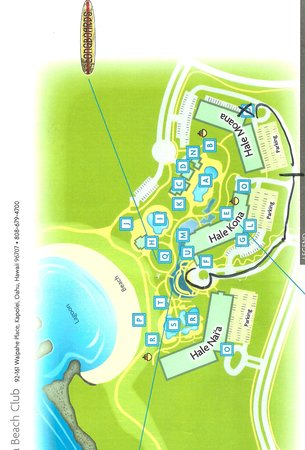 Hotel Map Picture Of Marriott Ko Olina Beach Club Kapolei