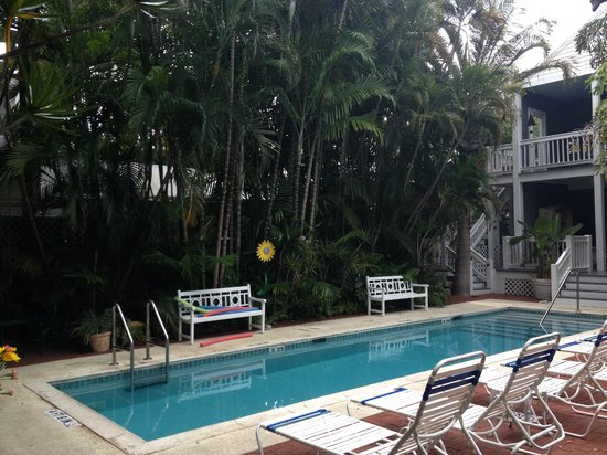 Ambrosia Key West Tropical Lodging : By the pool. The rooms there at the end have awesome porches.
