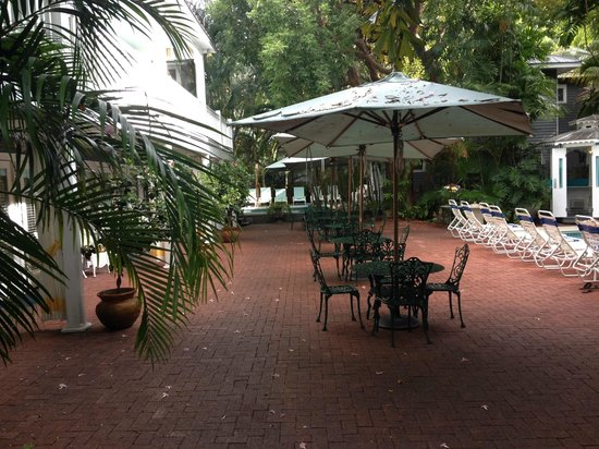 Ambrosia Key West Tropical Lodging: Your breakfast was served out here in a gazebo.  Wonderful!