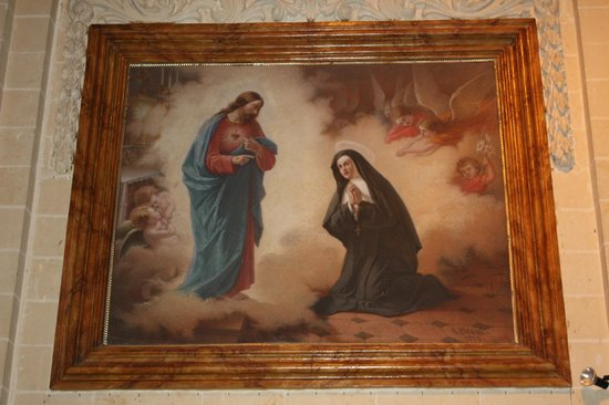 Fontana, Malta: Painting representing the apparition of the Sacred Heart of Jesus to St Margaret Mary Alacoque