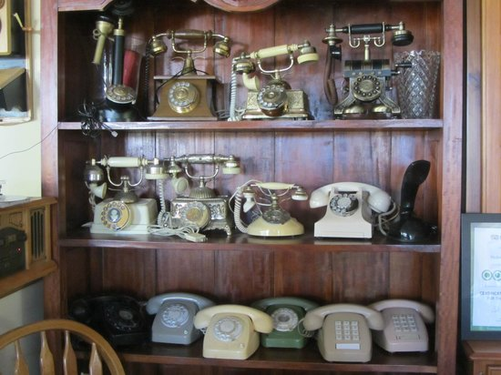 The Grandhouse York B&B: Old phone collection