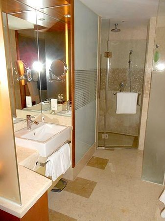 Swissotel Grand Shanghai: The bathroom is not huge, but more than adequate. Very clean, very functional.