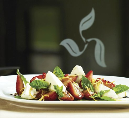 Terra Bistro: Marinated Strawberries and Fresh Mozzarella