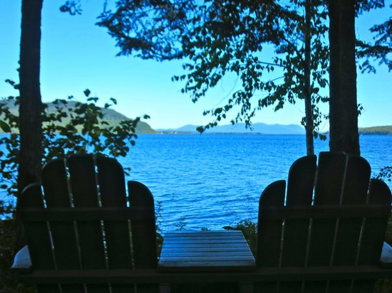 The Birches Resort : view from cabin