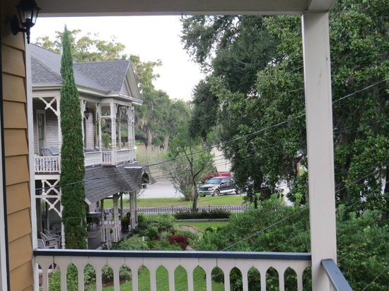 Amelia Island Williams House: View from Second Story Porch of Hearthstone House
