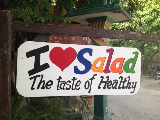 I Love Salad: Restaurant Sign