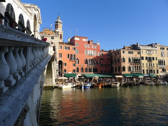 Hotel Rialto: View from across the Grand Canal
