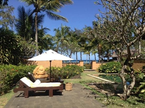 The Oberoi, Mauritius: view from Villa to beach