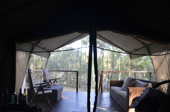 Paperbark Camp: view from bed