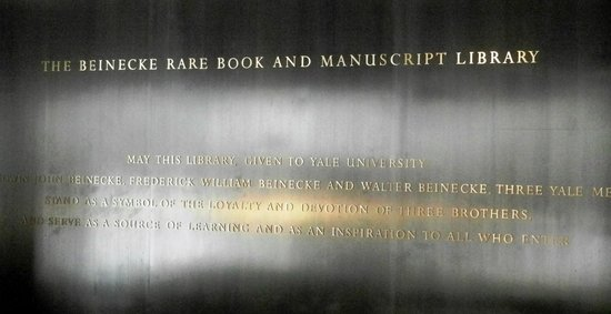 Beinecke Rare Book & Manuscript Library: Beinecke