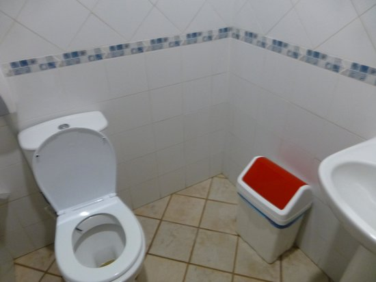 O Ciclista: Communal loo's but have their own wash basin within...