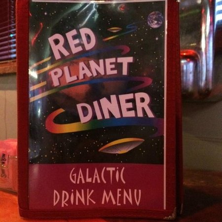 Red Planet Diner: The theme continues throughout