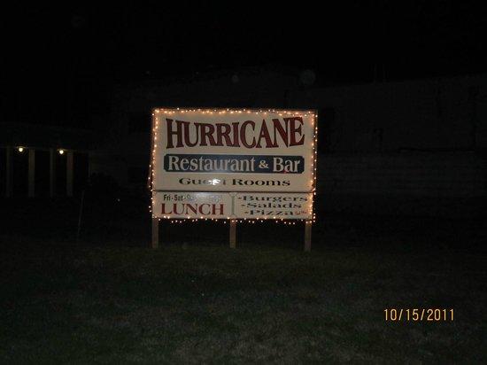 The Hurricane Restaurant: Main sign
