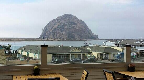 Dorn's Original Breakers Cafe : View of Morro Rock from our table.