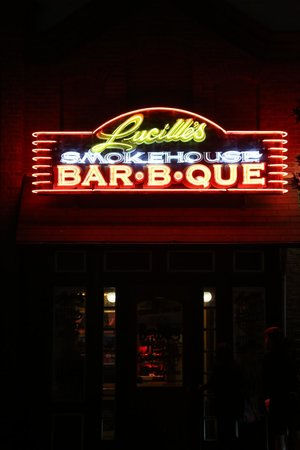 Lucille's Smokehouse BBQ: Entrance to Lucille's Smokehouse Barbque