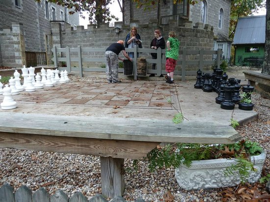 Ravenwood Castle: Giant outdoor chess board