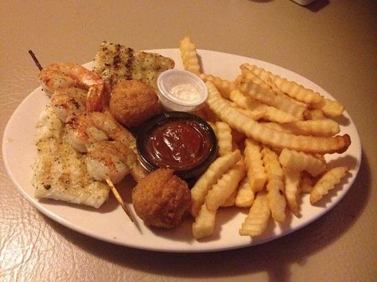 Nick's Seafood: Grilled Shrimp & Grouper
