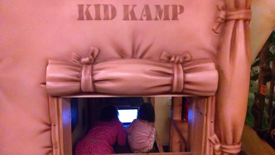 "Great Wolf Lodge: Kids Kamp area looking in thru ""window"""