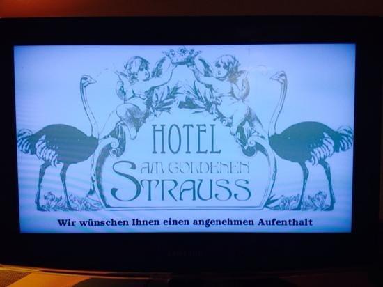 """AKZENT Stadthotel """"Am Goldenen Strauss"""": Begrüßung auf dem Zimmer"""