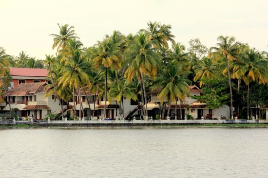 The World Backwaters: the resort viewed from the lake