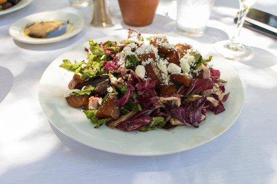 Beet & raddichio salad at Osteria Monte Grappa