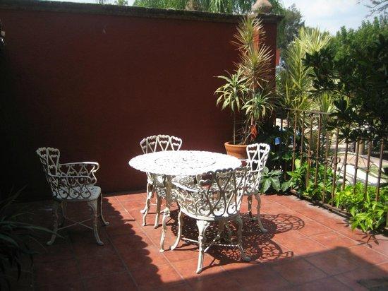 Casa de la Loma Hotel & Spa: Terraza