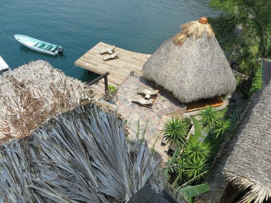 Laguna Lodge Eco-Resort & Nature Reserve: View from top deck