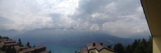 Dorint Blümlisalp Beatenberg/Interlaken: View from our room under cloudy sky